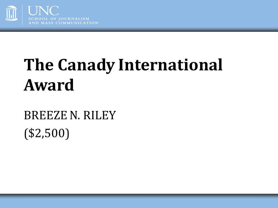 The Canady International Award