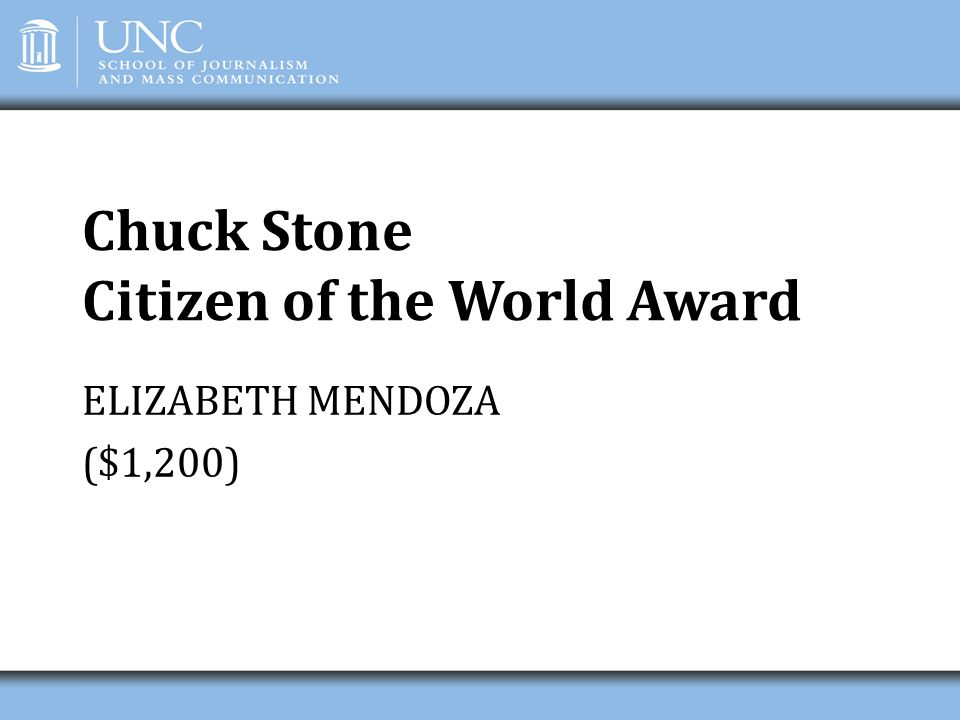 Chuck Stone Citizen of the World Award