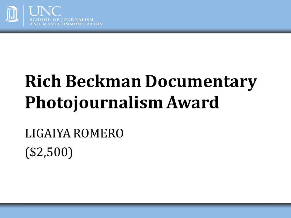Rich Beckman Documentary Photojournalism Award