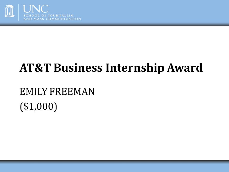 AT&T Business Internship Award