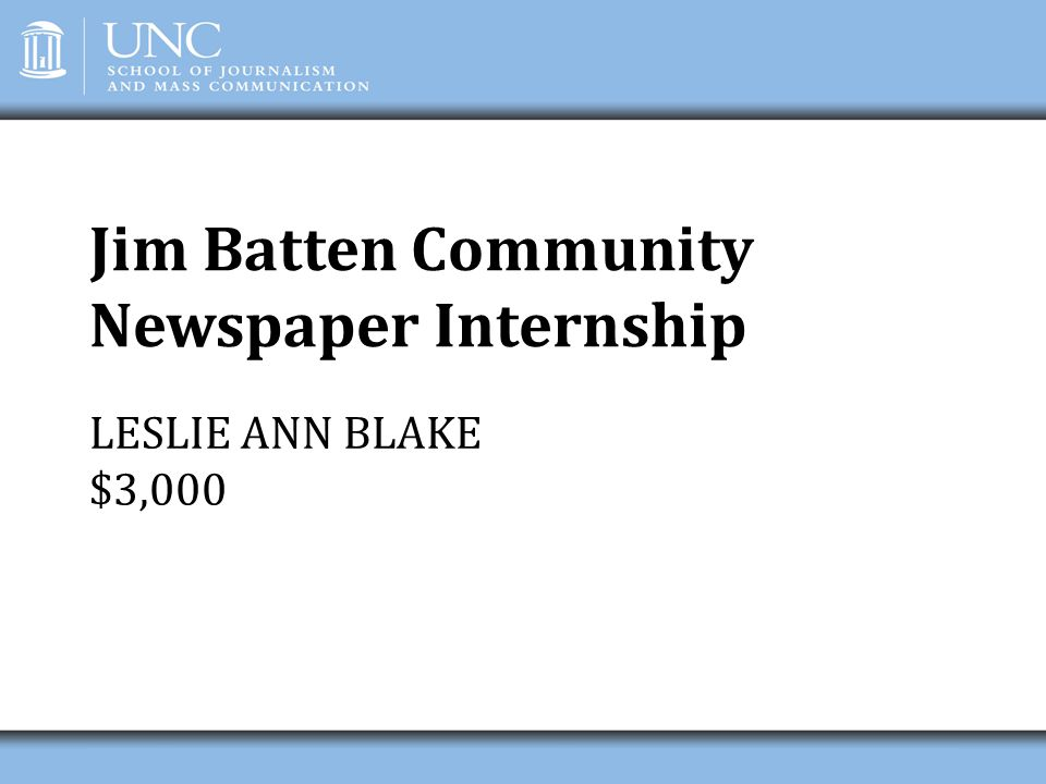 Jim Batten Community Newspaper Internship