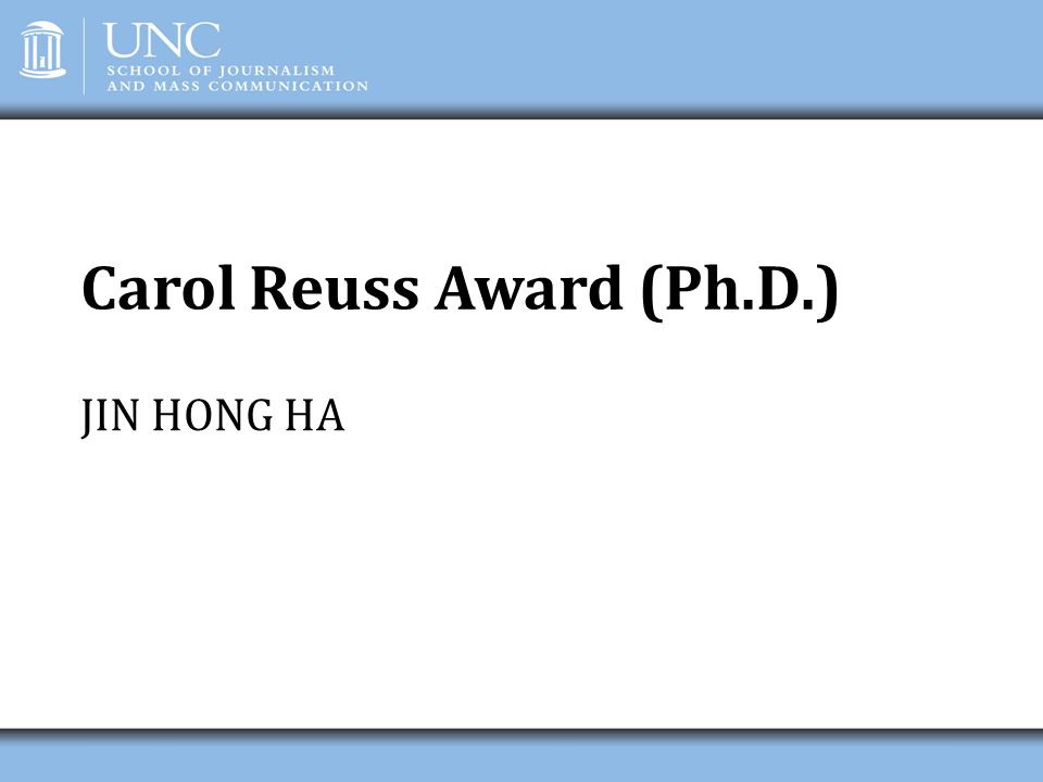 Carol Reuss Award (Ph.D.)