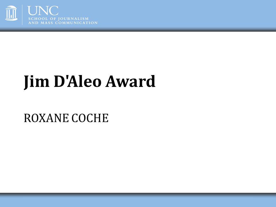 Jim D Aleo Award ROXANE COCHE