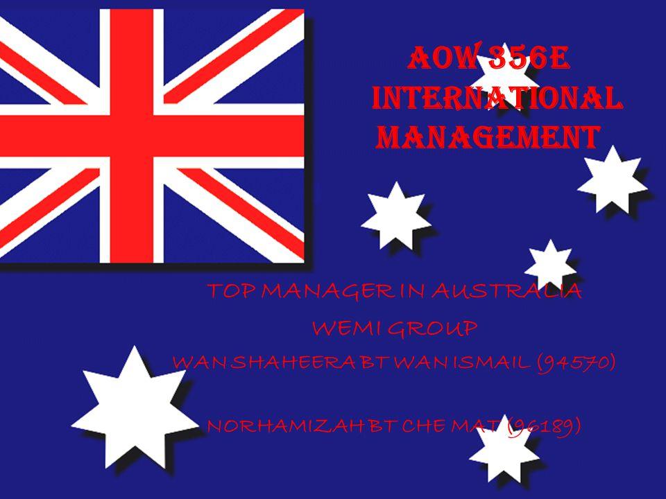 AOW 356E INTERNATIONAL MANAGEMENT
