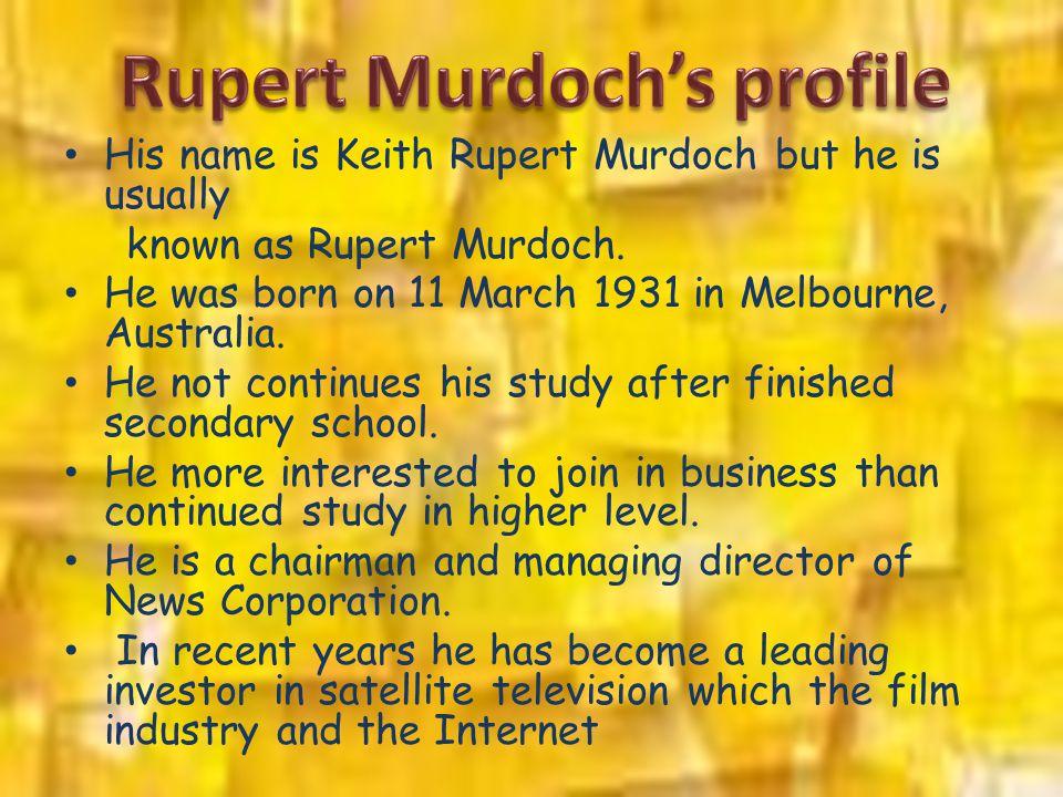 Rupert Murdoch's profile
