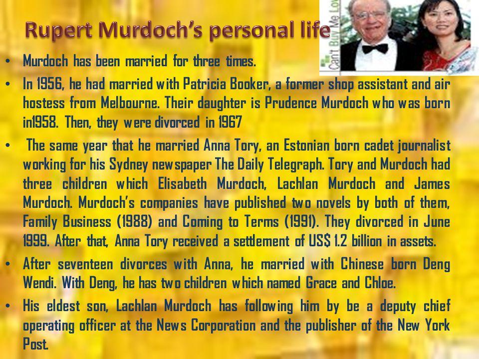 Rupert Murdoch's personal life