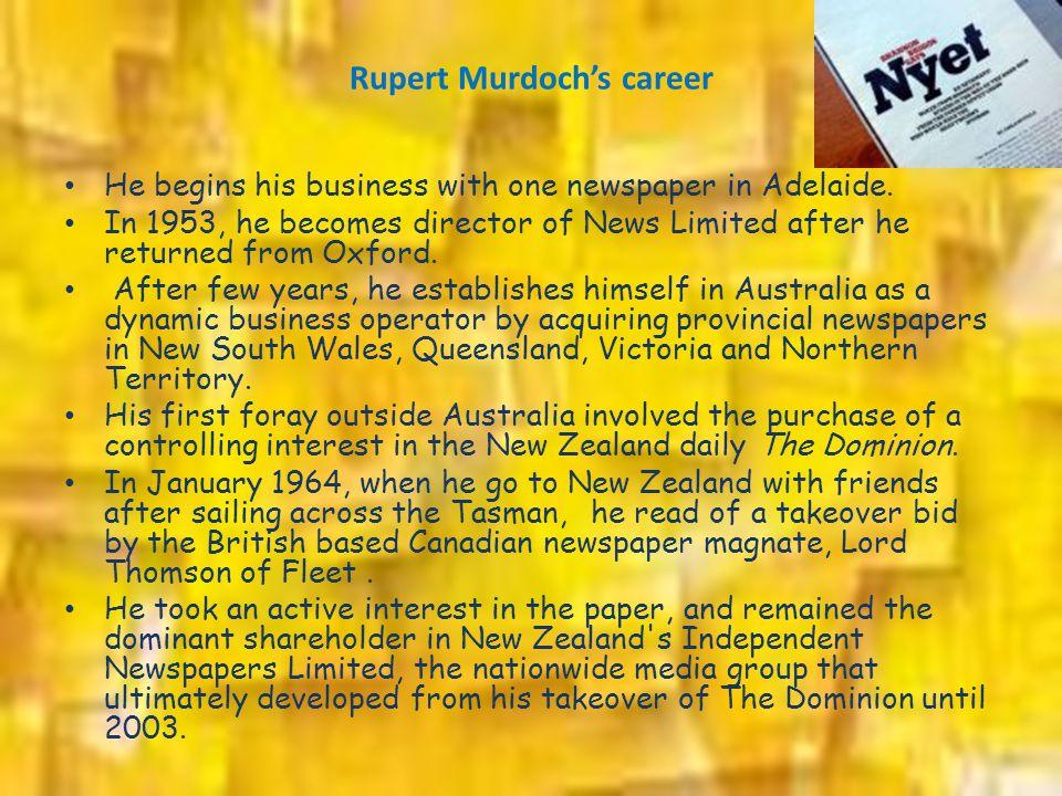 Rupert Murdoch's career