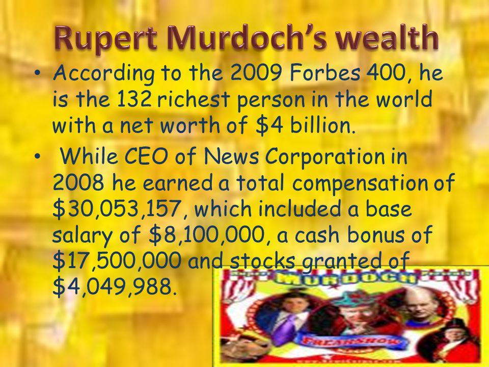 Rupert Murdoch's wealth