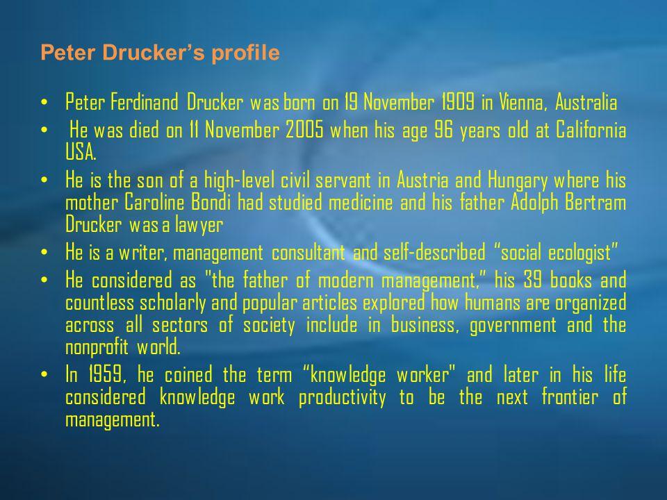 Peter Drucker's profile