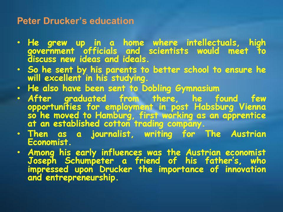 Peter Drucker's education