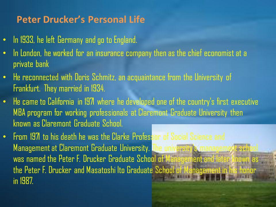 Peter Drucker's Personal Life