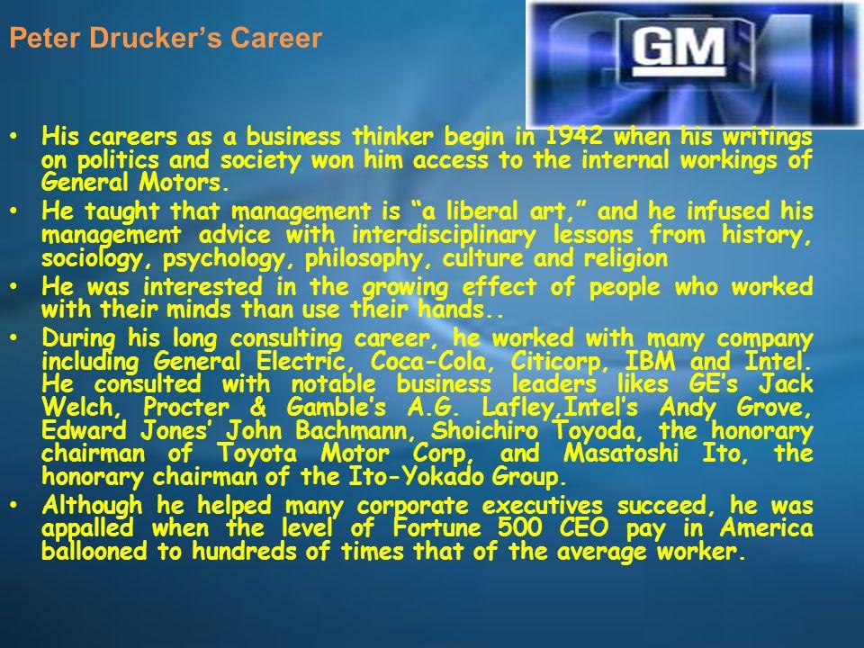 Peter Drucker's Career