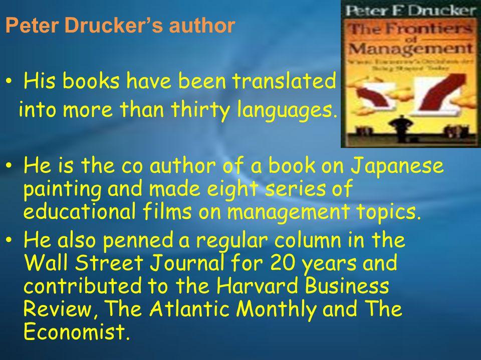 Peter Drucker's author
