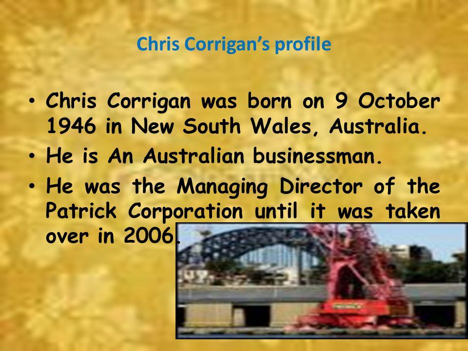 Chris Corrigan's profile