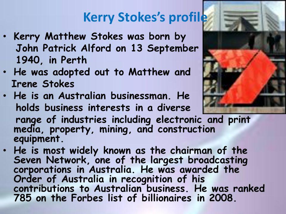 Kerry Stokes's profile