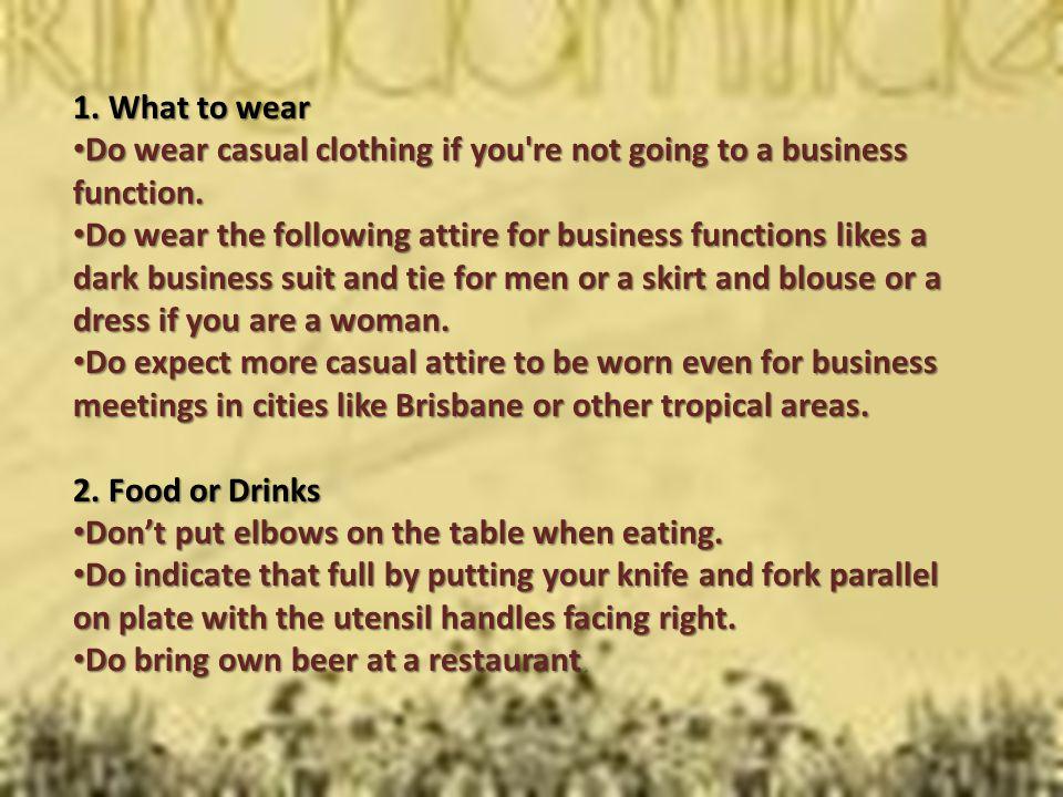 Australian Etiquette Tips