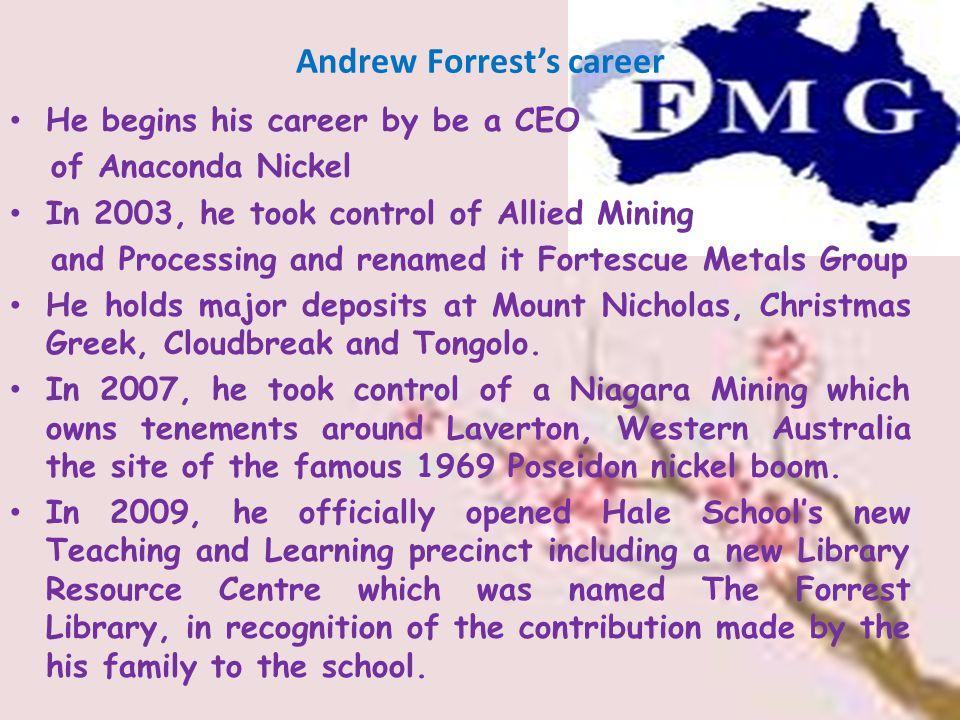 Andrew Forrest's career