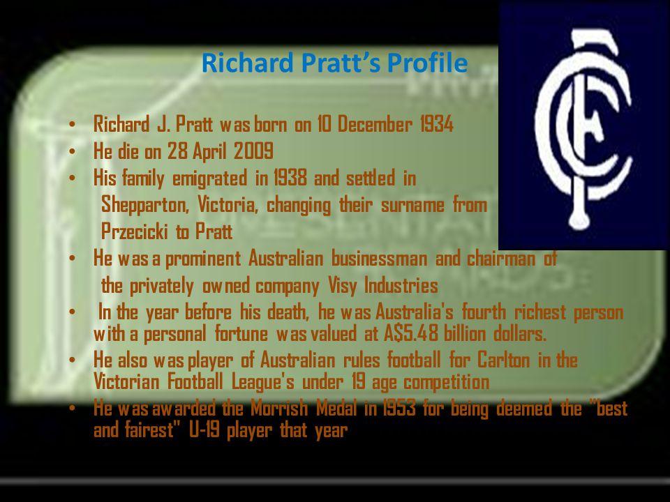 Richard Pratt's Profile