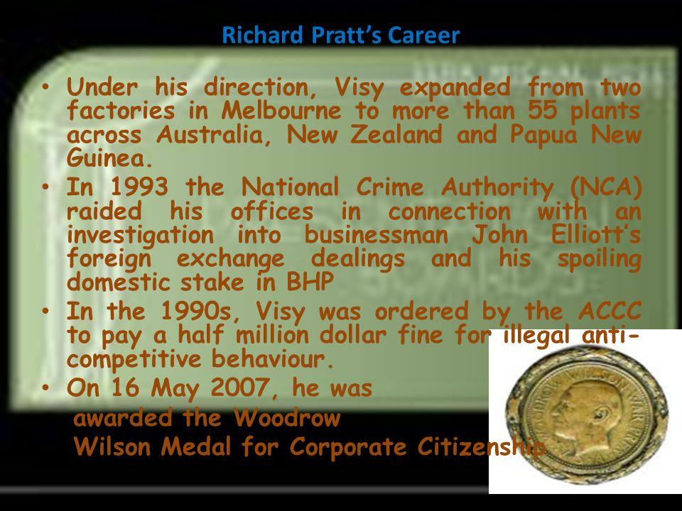 Richard Pratt's Career