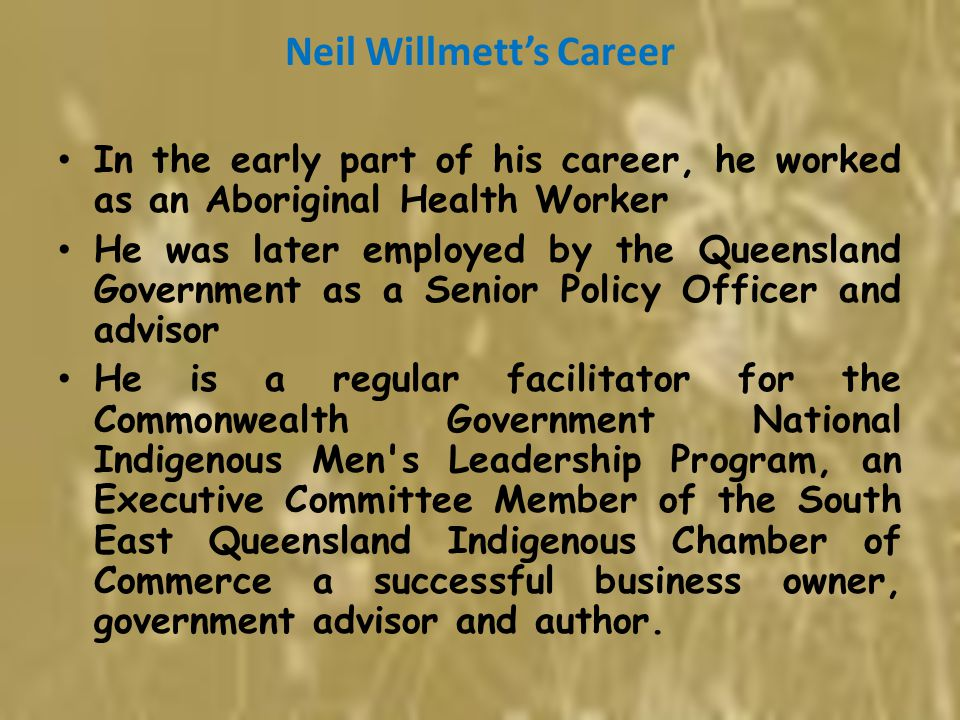 Neil Willmett's Career