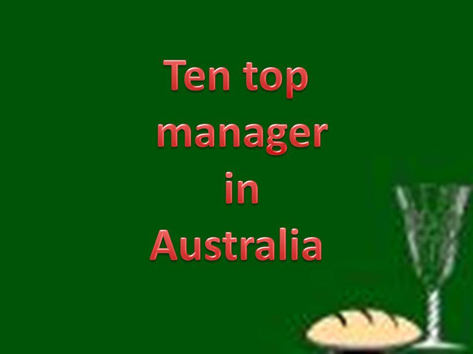 Ten top manager in Australia