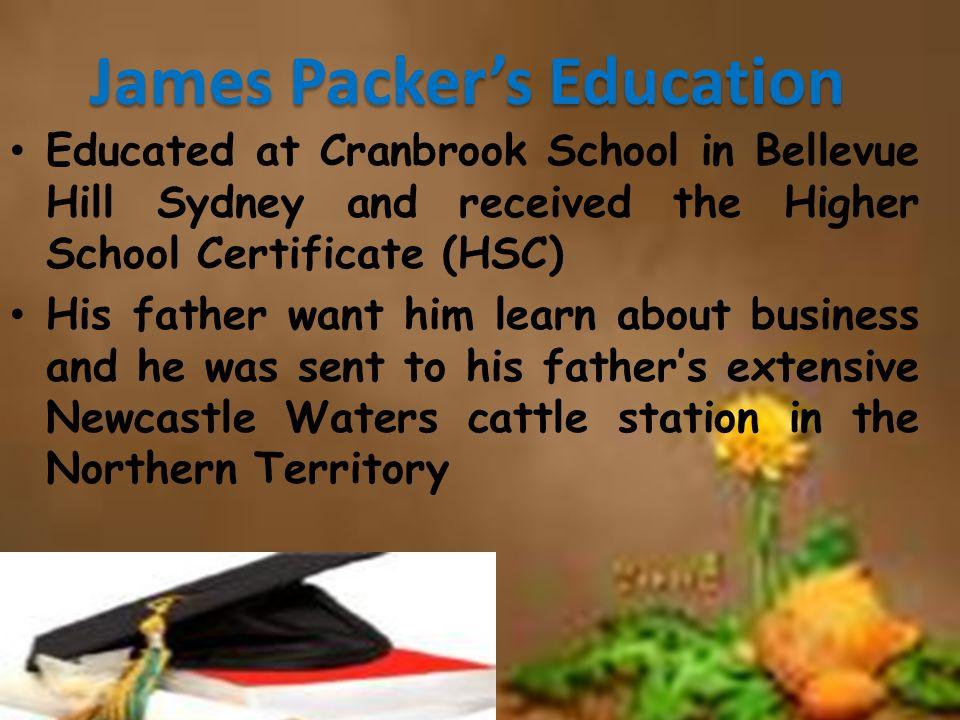 James Packer's Education