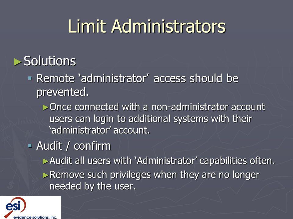 Limit Administrators Solutions