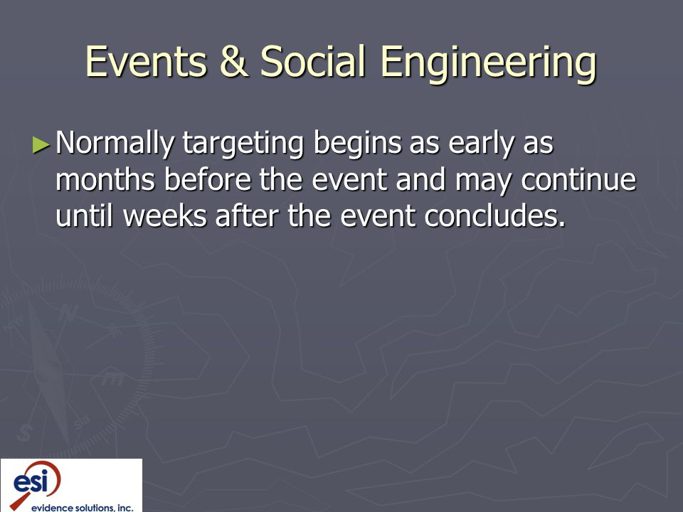 Events & Social Engineering
