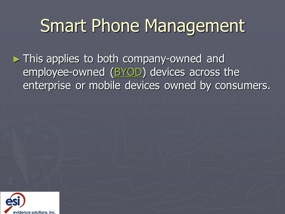 Smart Phone Management