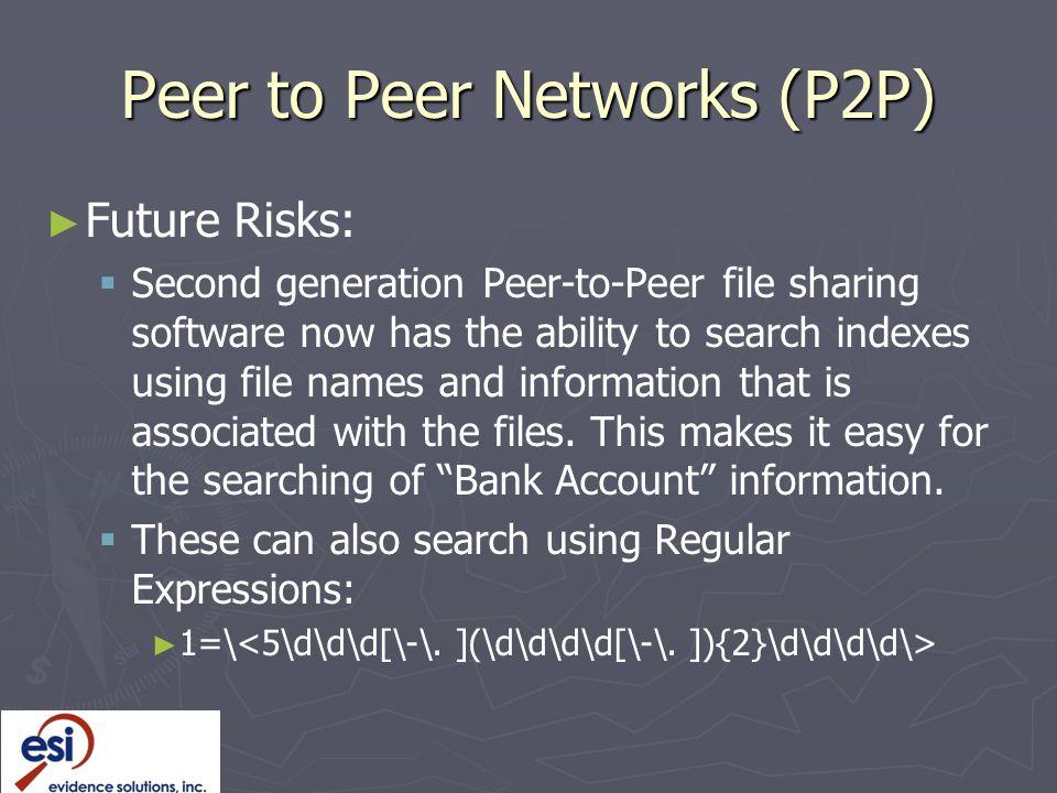 Peer to Peer Networks (P2P)