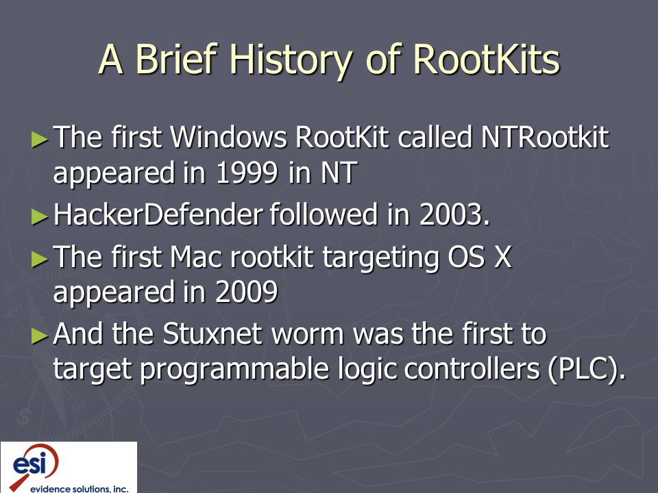 A Brief History of RootKits