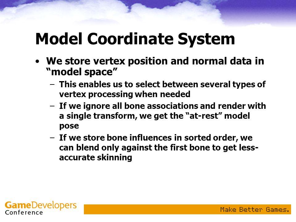 Model Coordinate System