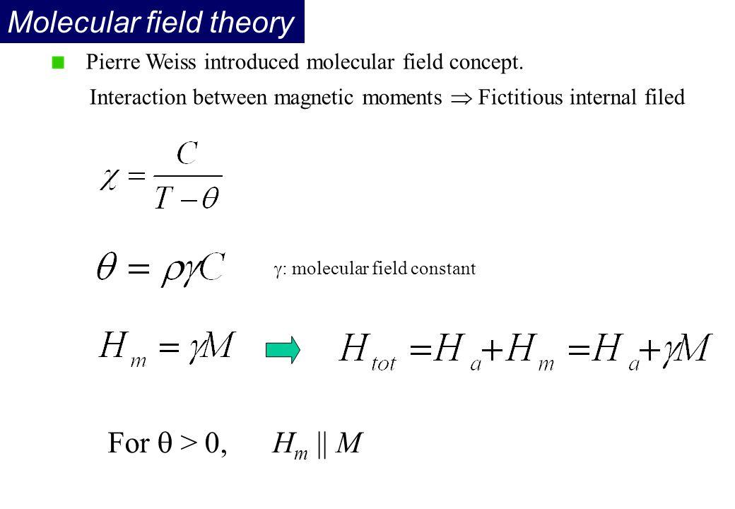 Molecular field theory