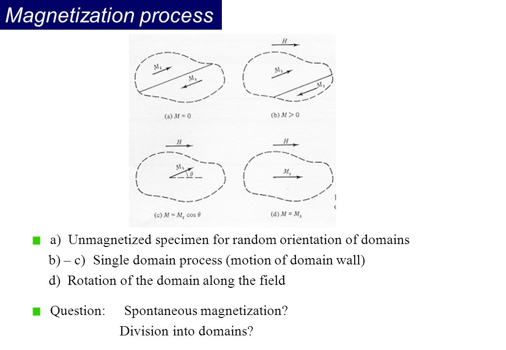 Magnetization process