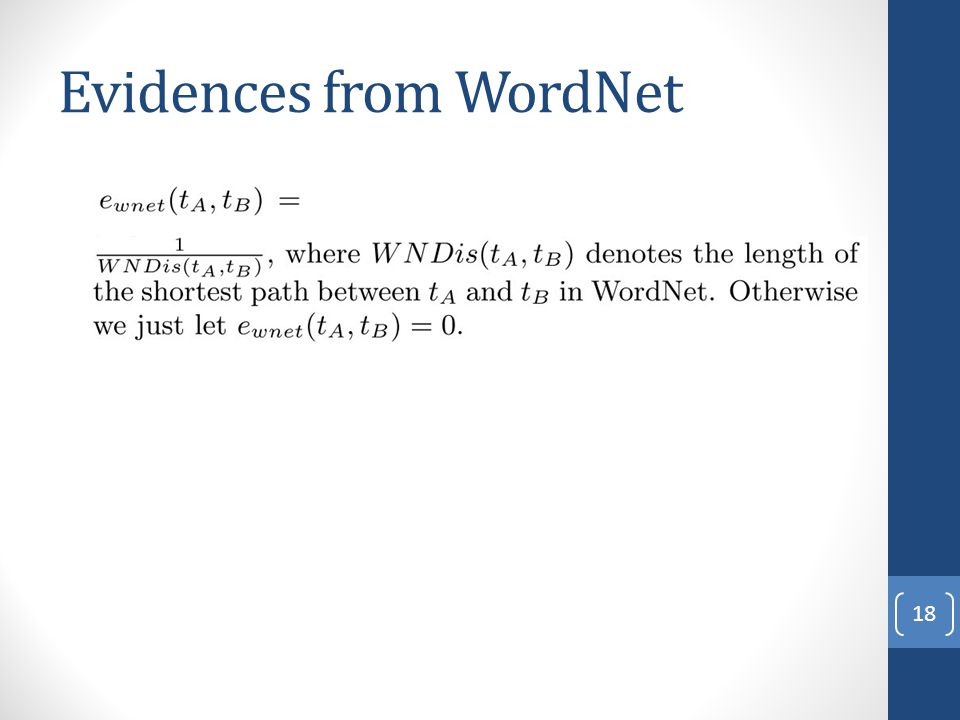 Evidences from WordNet