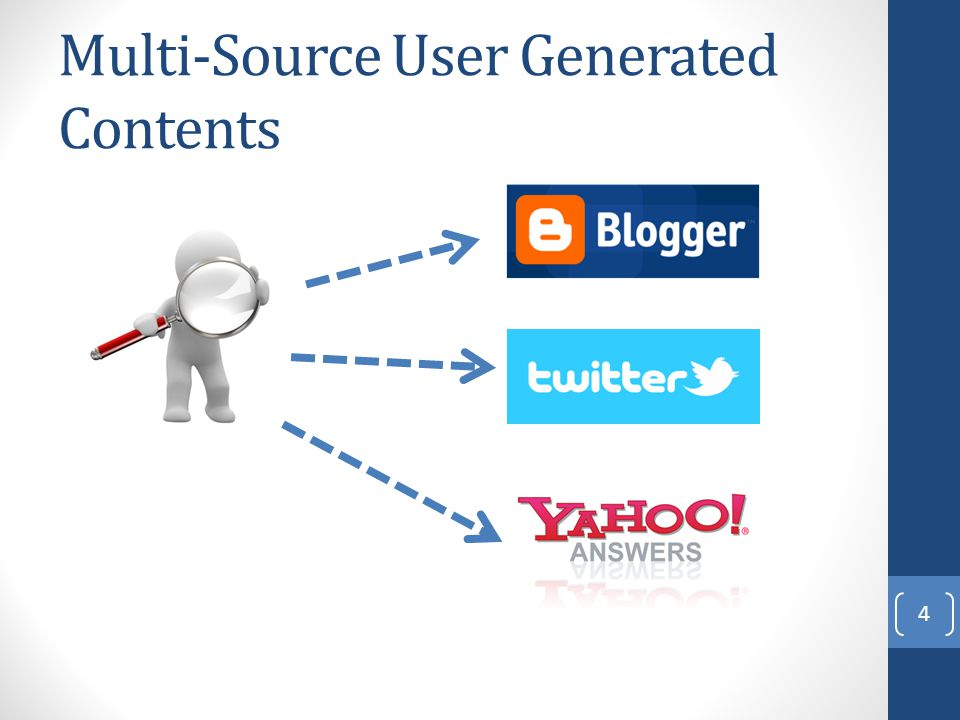 Multi-Source User Generated Contents