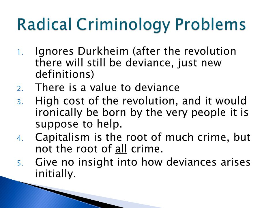 Radical Criminology Problems