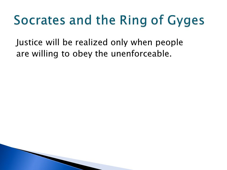 Socrates and the Ring of Gyges