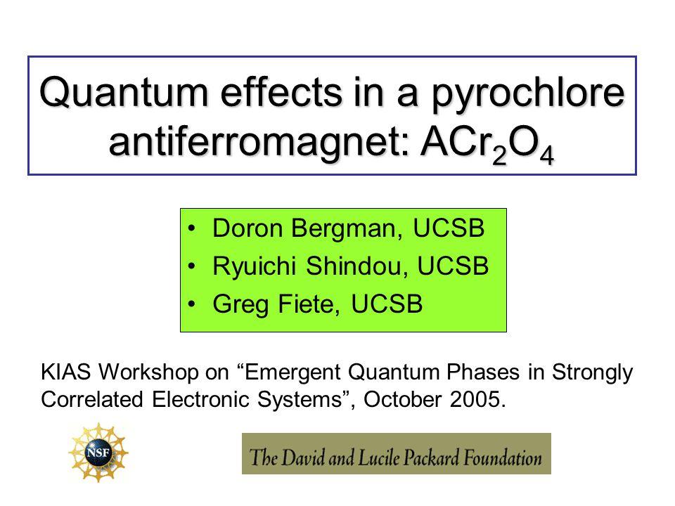 Quantum effects in a pyrochlore antiferromagnet: ACr2O4