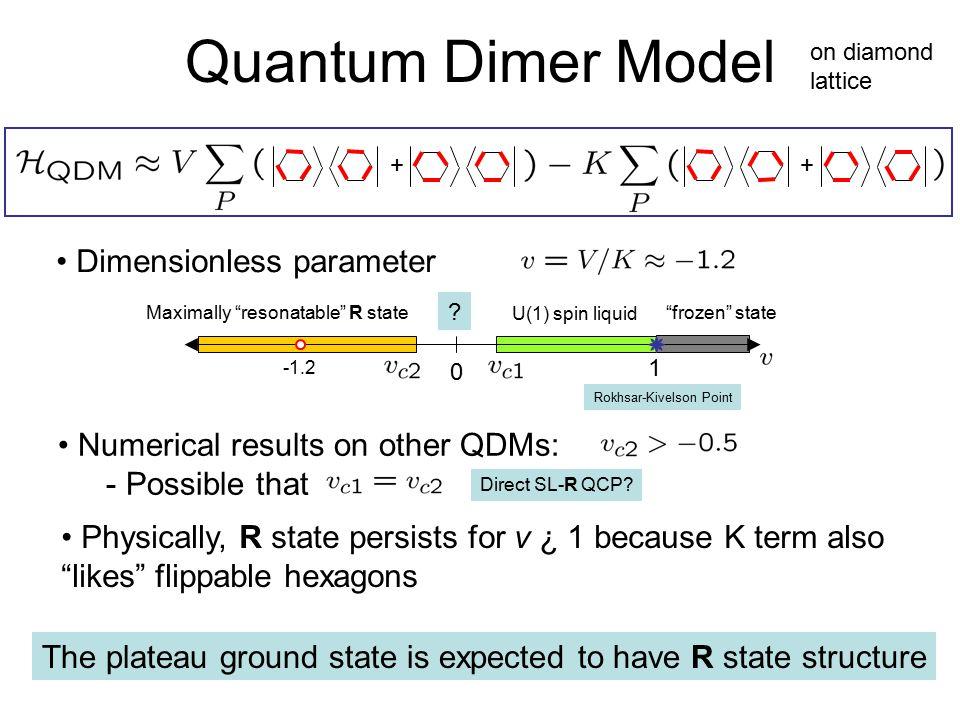 Quantum Dimer Model Dimensionless parameter