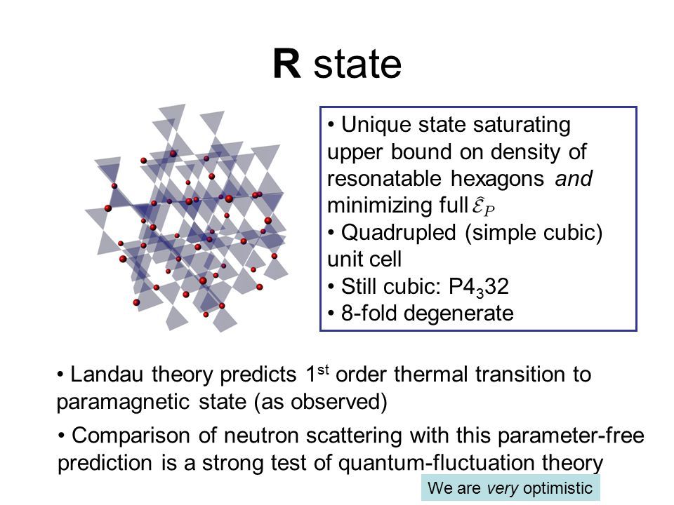 R state Unique state saturating upper bound on density of resonatable hexagons and minimizing full.