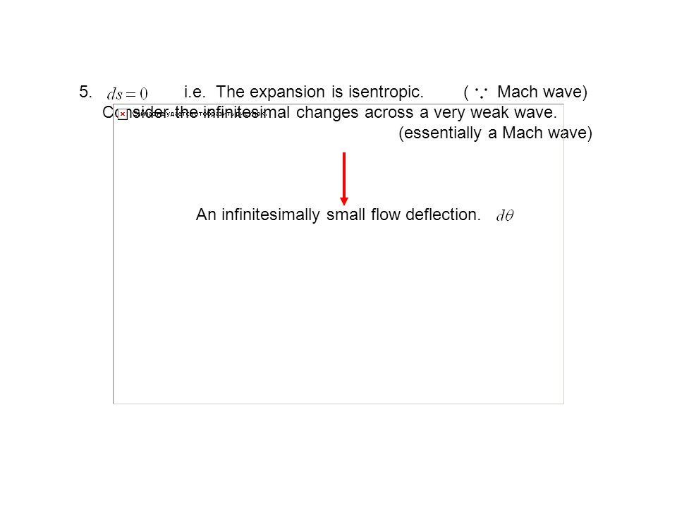 i.e. The expansion is isentropic. ( Mach wave)