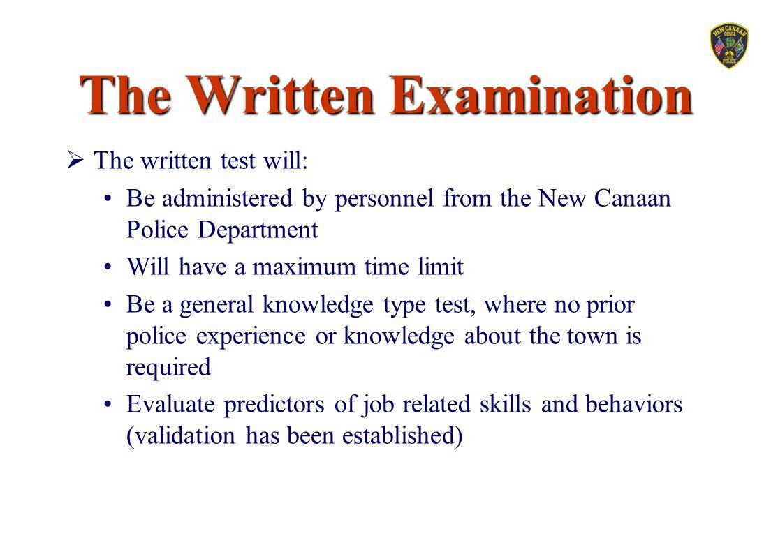 The Written Examination