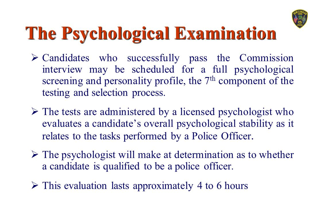 The Psychological Examination