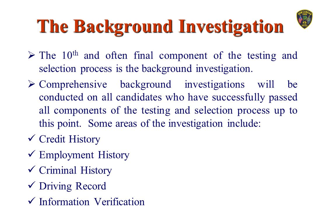 The Background Investigation