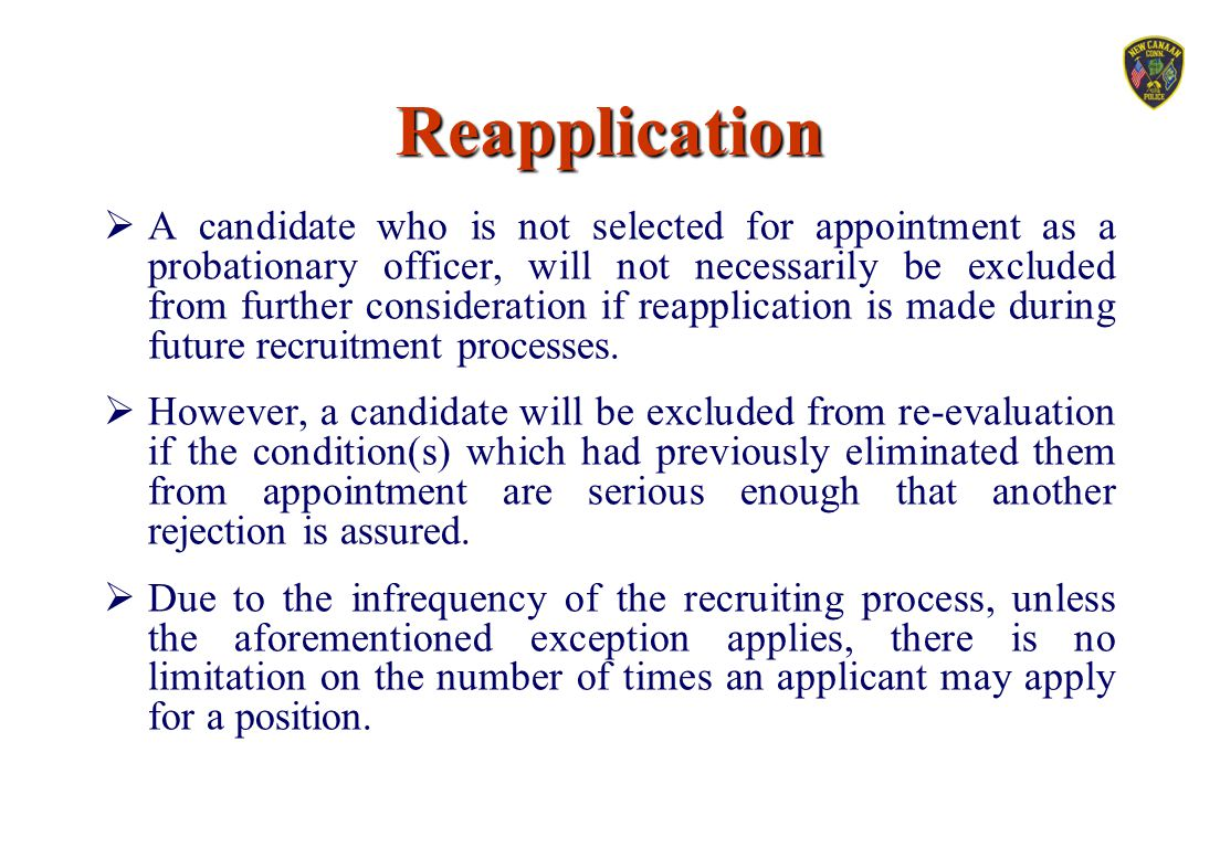 Reapplication
