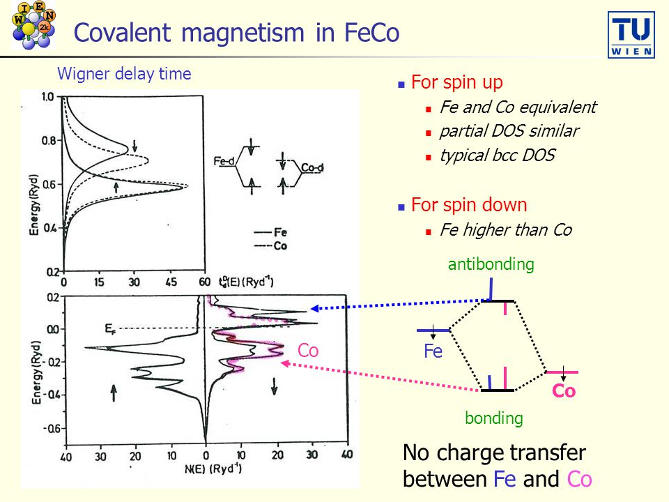 Covalent magnetism in FeCo