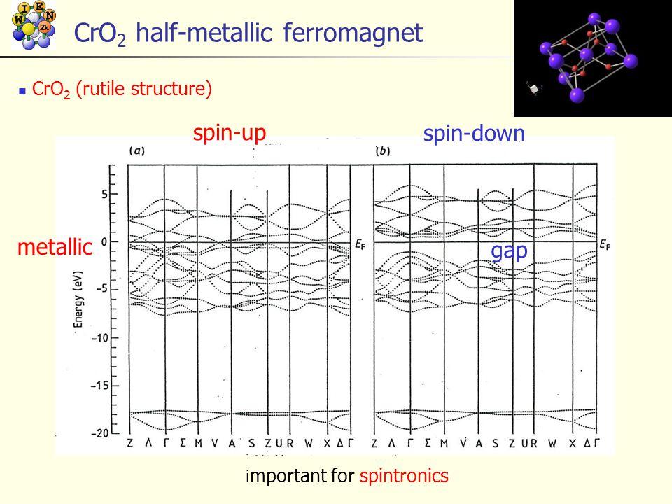 CrO2 half-metallic ferromagnet