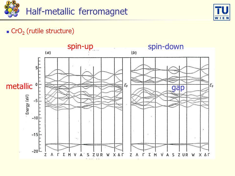 Half-metallic ferromagnet