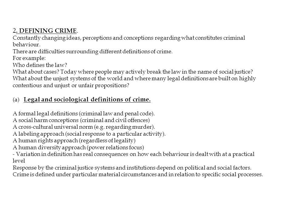 2. DEFINING CRIME.
